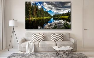Cuadro Decorativo Moderno, En Canvas / Lago/ Calidad Premium