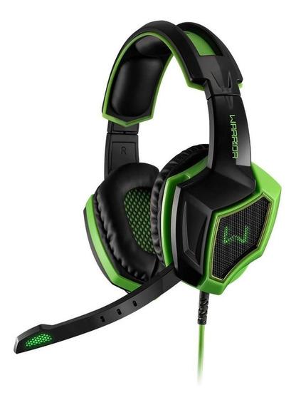 Headset Gamer 7.1 3d Warrior Multilaser Preto - Verde- Ph224