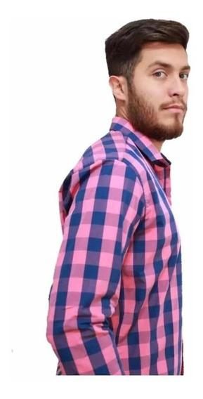 Camisa Escocesa - Cuadros - Hombre - Rojo Y Negro - Verano