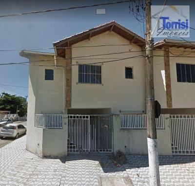 Sobrado Em Praia Grande, 02 Dormitórios, Na V. Guilhermina, So0043 - So0043
