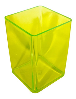 100 Cubos Portalapices Posalapices De Plástico De Color Sin Impresión Fabricación Propia
