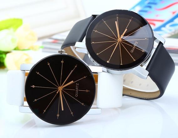Relógio Pulso Quartz Original - Preto, Branco *frete Gratis*