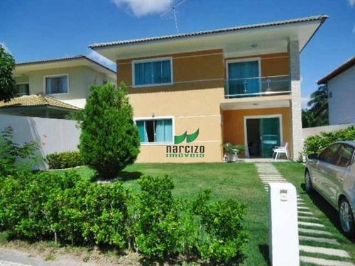 Casa Com 3 Dormitórios À Venda, 400 M² Por R$ 900.000,00 - Priscilla Dutra - Lauro De Freitas/ba - Ca1178