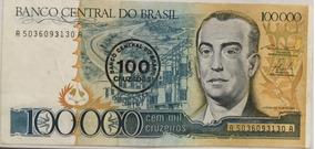 Cédula De 100 Mil Cruzeiros