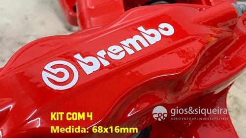 Imagem 1 de 1 de Adesivo Brembo Para Pinça Freio 68x16mm