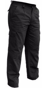 Pantalones Cargo/brin/gabardina/azul/negro/trendy Work Wear.