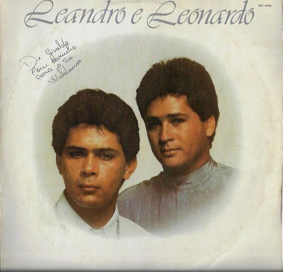 Disco De Vinil Lp Leandro E Leonardo 1989 Entre Tapas Beijos