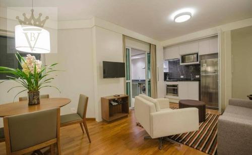 Flat Mobiliado Com 2 Dormitórios À Venda, 62 M² Por R$ 1.000.000 - Vila Olímpia - São Paulo/sp - Fl0016