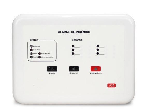 Central De Alarme De Incêndio Convencional 12v 6 Setores