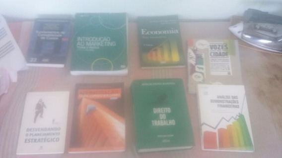 Livros De Administração,direito,market,logíst.,econ., Contab