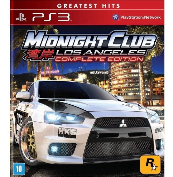 Jogo Digital Ps3 Midnight Club Losangels Complet Edition Psn