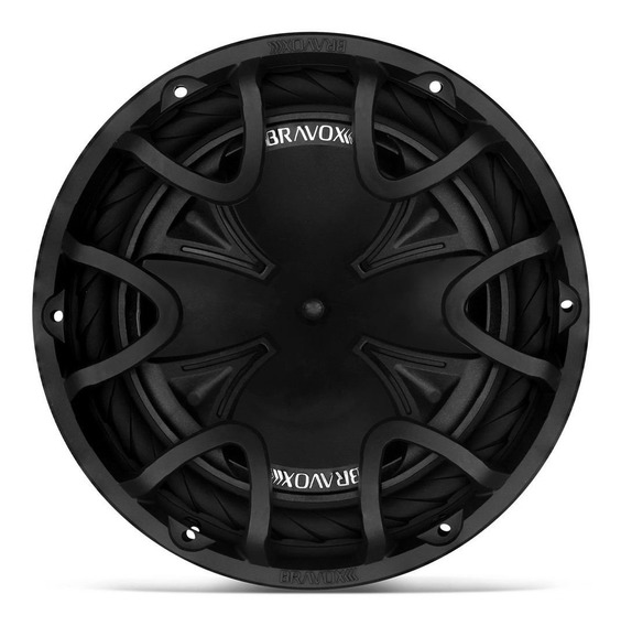 Subwoofer Bravox Bk12 Black 350 Wrms D4+4 12 Polegadas
