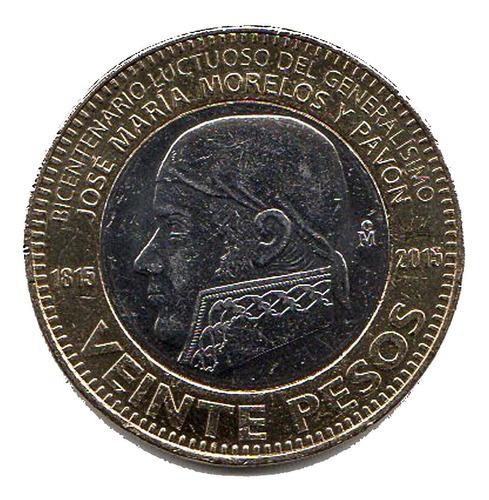 Imagen 1 de 3 de Monedas Conmemorativas De 20 Pesos Morelos Nuevas Con Brillo