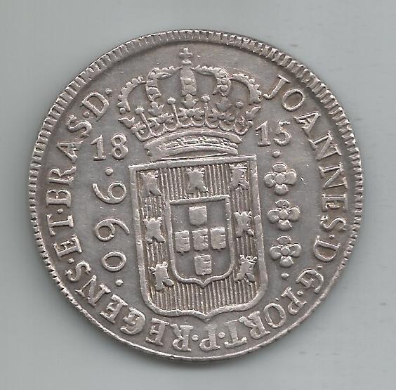 Moeda Prata Brasil - 960 Réis (patacão) - 1815 B - V. 14