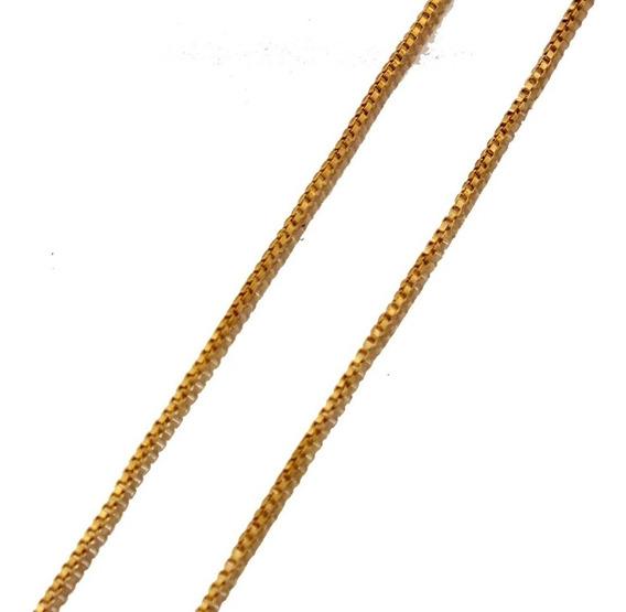 Corrente Grande Elo Veneziano 60cm Em Ouro 750 18k J21738