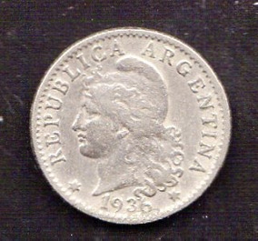 Argentina 5 Centavos 1936 Usada Oferta( M 40) Imperdible Vea