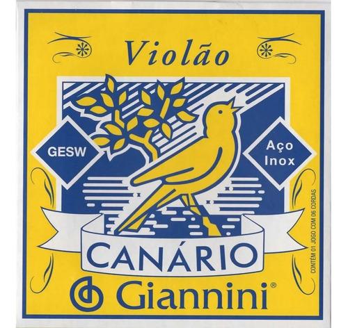 Imagem 1 de 4 de 3 Encordoamentos Corda Violão Aço 0,10 Giannini C/ Bolinha