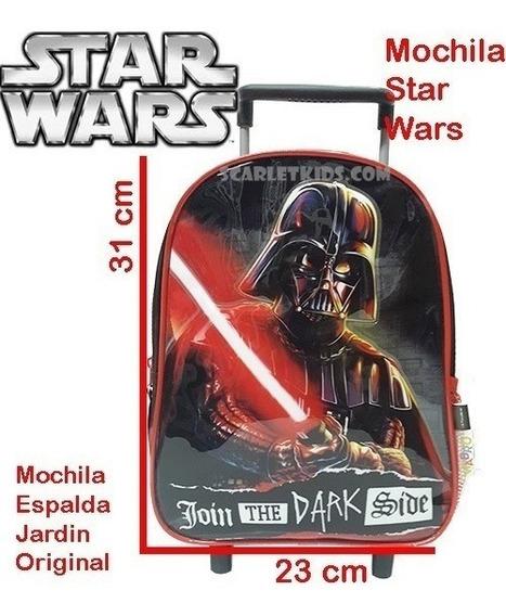 Mochila Star Wars Basica C/carro 12 Niños Varios Modelos