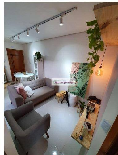 Imagem 1 de 18 de Apartamento Com 2 Dormitórios À Venda, 46 M² Vila Scarpelli - Santo André/sp - Ap5630