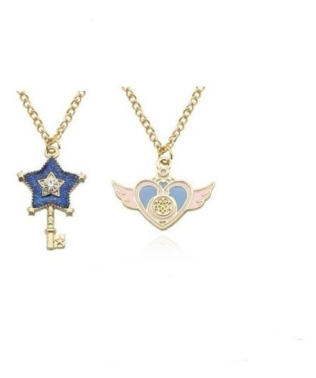 Collares Sailor Moon ,broche Corazón ,llave Estrella