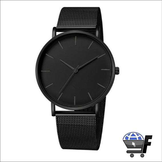 Relógio Masculino Social Ultra Fino De Luxo Analógico Metal