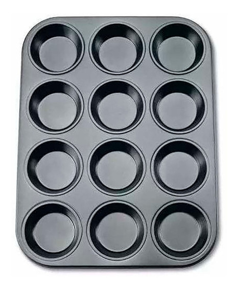 Molde Placa Muffins X12 Antiadherente Cupcake