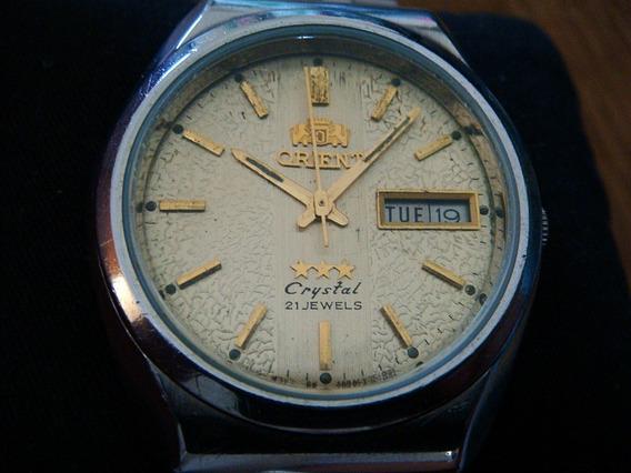 Bonito Reloj Orient Vintage Automatic Dial Oro Texturizado