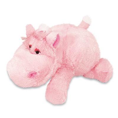 Hipopótamo De Pelúcia Cibele Rosa Deitada 35 Cm Antialérgico