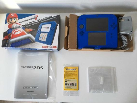 Nintendo 2ds Na Caixa Com Jogos Mario Zelda Pokemon