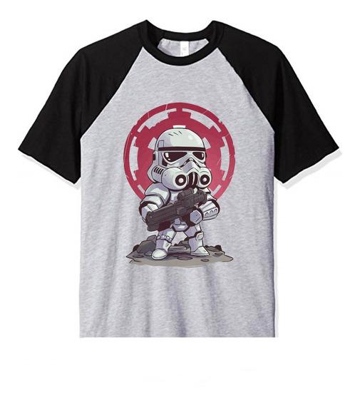Remera Niño Star Wars Stormtrooper Chibi Draw Infantil Mod2