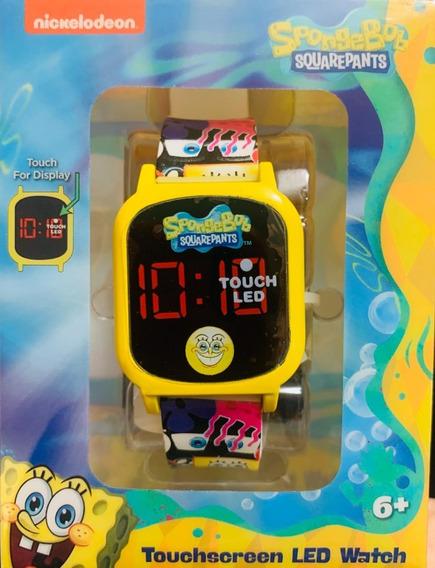 Reloj Bob Sponja Touchscreen Led Nuevo Original