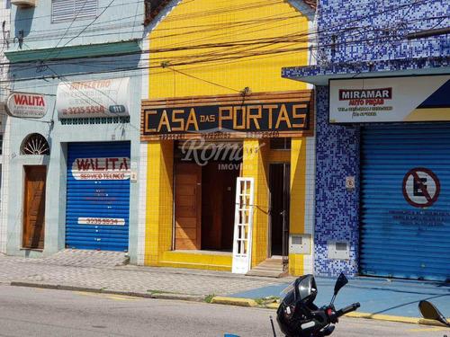 Imagem 1 de 11 de Loja Com 2 Dorms, Vila Mathias, Santos - R$ 620.000,00, 225m² - Codigo: 429 - V429