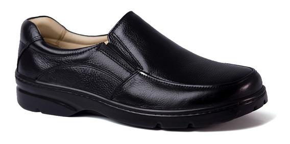 Sapato Masculino Esporão 5300 Em Couro Floater Preto Doctor