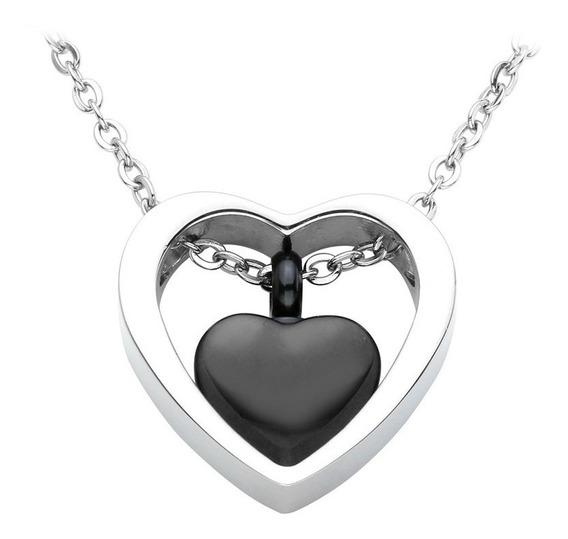 1 Collar Relicario Corazón Urna Cenizas Acero Varios Modelos