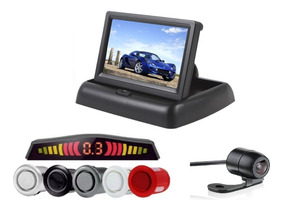 Kit Sensor De Estacionamento C/ Tela Lcd 4.3 + Câmera De Ré