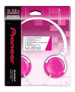 Auricular Pioneer Mj502 1.2m Pink Rose Stereo Headphones Pro