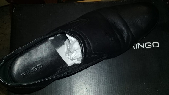 Zapatos Cuero Ringo Jerry 45 Negro Usado