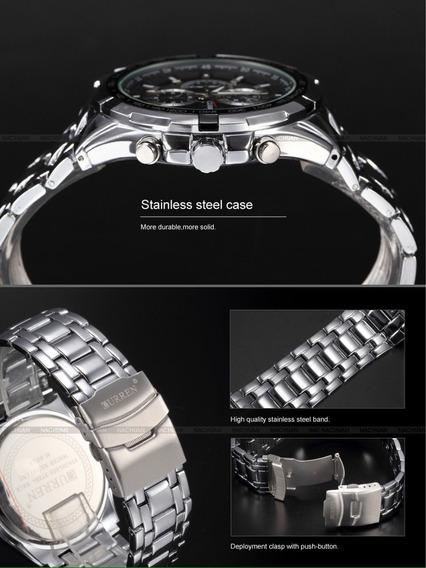 3 Curren Relógios Aço Inoxidável Luxo Original
