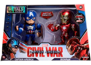 Capitán América Iron Man Civil War Metals Original Colección