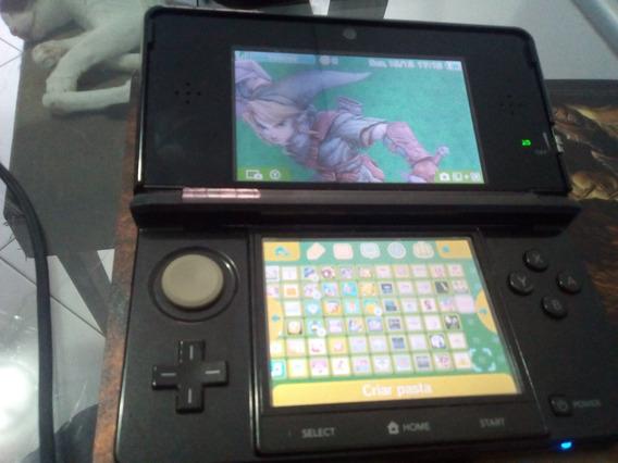 Nintendo 3ds Preto Jogos Incluso Original Sem Desbloqueio