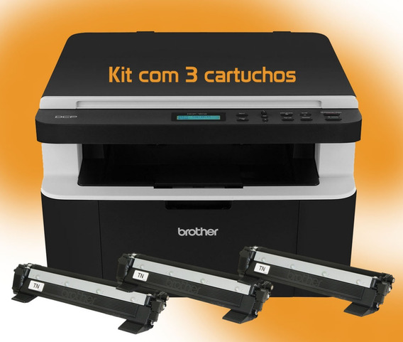 Multifuncional Laserjet Brother Dcp 1602 Kit 3 Toners 110v