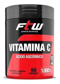 Vitamina C Ácido Ascórbico 1000mg - 60 Cápsulas - Ftw
