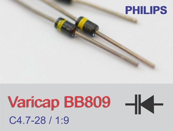 Diodo Varicap Bb809 - Kit 2un. + 2 Cap. Cer.100pf/500v Txrx