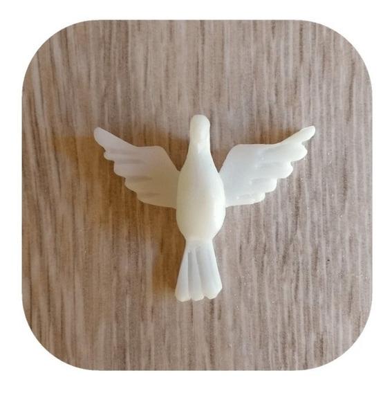 Pomba Divino Espírito Santo Em Resina 4cm (10 Unidades)
