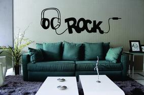 Adesivo De Parede Música Fone De Ouvido Rock - 1,6 Mt