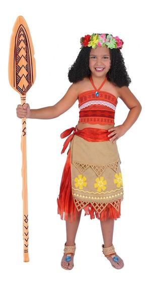 Disfraz De Princesa Moana Niña Carnavalito -d637