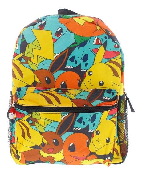 Pokemon Personaje Mochila Regreso A La Escuela, Libro, Bolsa