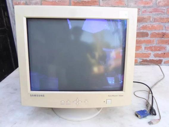 Antigo Monitor Tubo 14 Polegada Colorido Samsung Bivolt