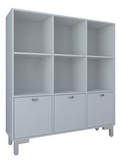 Librero Organizador Multimoveis Modelo 2593.0001 Color Blanc