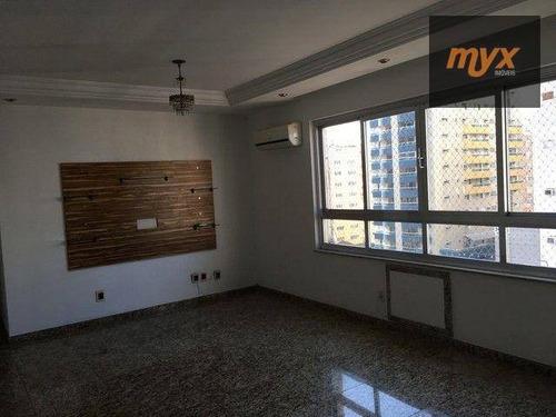 Apartamento Com 2 Dormitórios Para Alugar, 120 M² Por R$ 3.600,00/mês - Gonzaga - Santos/sp - Ap6155